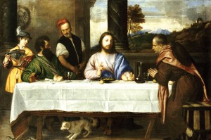 The Supper at Emmaus, by Titian. 1535