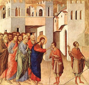 The Healing of the Blind Man, by Duccio di Buoninsegna.